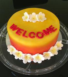 Frangipani themed cake.