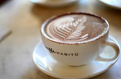 A full menu of coffee drinks (espresso! cappuccino! latte!) available at your own countertop.