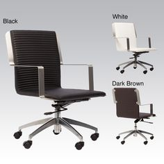 @Overstock - Get your project finished without physical suffering when youve got this comfortable swivel office chair at your desk. The ribbed polyurethane seat comfortably supports your body for hours, and the gas lift lets you adjust the height.  http://www.overstock.com/Home-Garden/Trump-Adjustable-Height-Swivel-Office-Chair/6690933/product.html?CID=214117 $248.99
