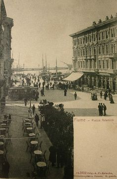 Rijeka - 1900-tih - Piazza Adamich