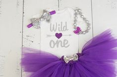 WILD ONE Birthday Outfit Girls 1st Birthday First by GirliesGalore