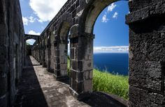 Brimstone Hill archways in St. Kitts.