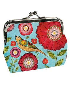 Another great find on #zulily! Passion for Fashion Turquoise Flower Bird Coin Purse by Passion for Fashion #zulilyfinds