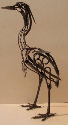scrap metal sculptures- Harriet Mead