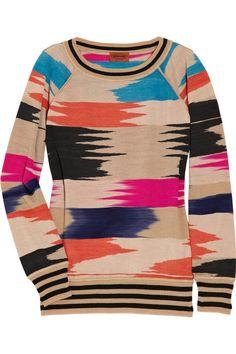 The subtle aztec inspired print makes a slubby sweatshirt look so good! #ragstoramp #yummyprints #hellonavajo