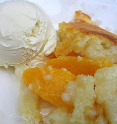 "Pinner said...""One of my all time fav recipes! Peach Cobbler - So EASY!  Dump 5 ingredients in a 9x13 casserole dish, and 45 minutes later, you have cobbler.  Make this your first Peach Cobbler, and you will never roll out a pie crust.  So yummy.""  Looks great!"