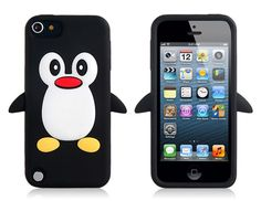 Penguin Pattern Protective Case for iPod Touch 5 (Black) - IT0046B