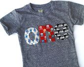 one lowercase car pattern for boys 1st Birthday Shirt