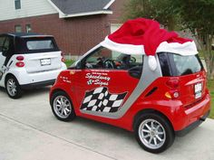 christmas decoration for smartcar smart car forums christmas car decorations smart car red