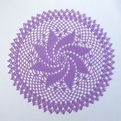 Signed With an Owl: Pinwheel Doily Crochet Tablecloth, Crochet Doilies, Crochet Hats, Crochet Thread Patterns, Pinwheels, Needle And Thread, Crochet Projects, Knitting, Crafts