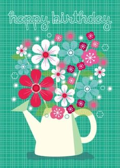 Amy Cartwright - ACW Happy Birthday Flowers Watering Can.jpg