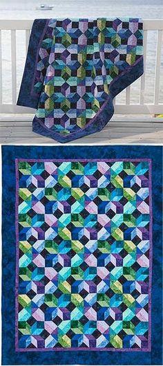 batik quilt - love the colors