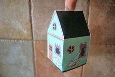 FREE printable elf house