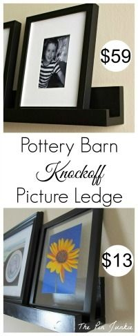 Make a ledge for displaying your favorite pictures.  Customize by making any length or color you choose!