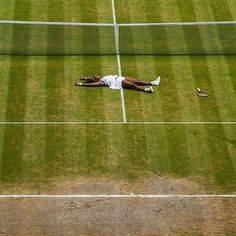 Serena Williams after winning the Wimbledon championship on July 9, 2016.