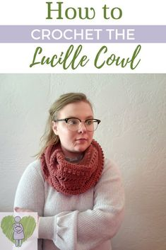Read more to get the Lucille Cowl Crochet Pattern! Comes with instructions to make a scarf, infinity scarf, or cowl! Bag Crochet, Crochet Clutch, Crochet Woman, Crochet Scarves, Free Crochet, Crochet Cowls, Crochet Granny, Crochet Infinity Scarf Pattern, Crochet Blanket Patterns