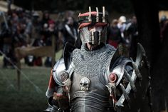 Noble of Barrenbay Conquest Of Mythodea, Crusader Knight, Arm Armor, Crusaders, Larp, Live Action, Warfare, Knights, Medieval