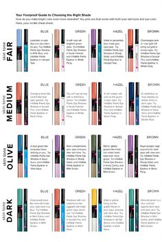 Your foolproof guide to choosing the right bold eyeshadow shade. How do you make bright color even more wearable? You pick one that works with both your skin tone and eye color. Here, your no-fail cheat sheet.