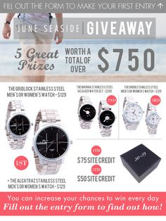 THIRTY X THIRTYNINE June Seaside Giveaway - Enter to Win Over $770 in Prizes!