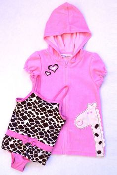 Wippette Infants Swimsuit and Cover-Up Set in Pink - Beyond the Rack