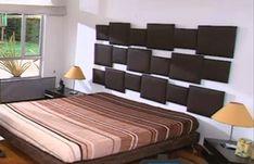 Cabecero para la cama tapizado, muy fácil de hacer