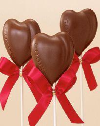 Godiva Milk Chocolate Heart Lollipops