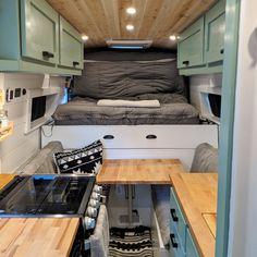 Bus House, Tiny House Cabin, Camper Life, Campers, Bus Life, Truck Camper, Van Conversion Interior, Van Interior, Campervan Bed