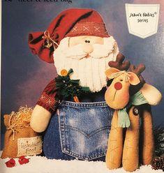 Santa and Reindeer PATTERN - Santa & Rudy - CG81