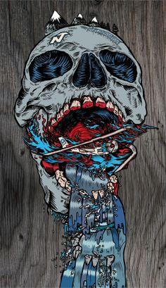 part of the bushywayne graphics. Behance, Skull Art, Creative Director, Skulls, Skiing, Sick, Spiderman, Superhero, Cool Stuff