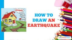 Diy Arts And Crafts, Crafts For Kids, Drawing Exercises, Nature Drawing, Exercise For Kids, Step By Step Drawing, Drawing Tutorials, Classroom Activities, Learn To Draw