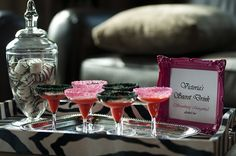 In Flight Party Ideas: Pink + Zebra Sweet Sixteen