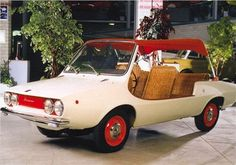 DAF basis(& FIAT 850 basis) Shellette (Michelotti), 1968 - Designed by Giovanni Michelotti for Onassis. Michelotti used the chassis of a Daf 55. Onassis and Jacky Kennedy drove around in this vehicle.