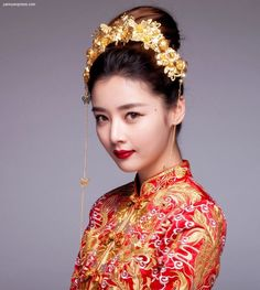 Chinese Wedding Hairpiece for Qun Kwa