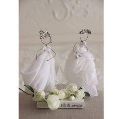 Fil di ferro e tessuti preziosi per le mie spose by Fili di poesia wedding
