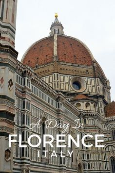 Duomo di Firenze, the cathedral of Florence, Italy looms over the city. It is one of the main attractions to see on a one day itinerary in Florence   24 hours in Florence   Italy with kids