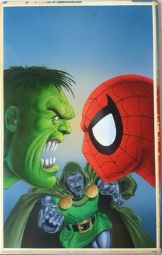 #Hulk #Fan #Art. (FS: You are Spider-man vs. the Incredible Hulk Painting & Pencil Drawing) By: MIKE ZECK & PHIL ZIMELMAN. ÅWESOMENESS!!!™ ÅÅÅ+