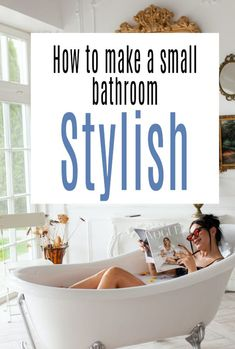 How to make your small bathroom stylish with these bathroom design decor hacks and tips  #smallbathroom #bathroom #bathroomdecor #bathroomdesign