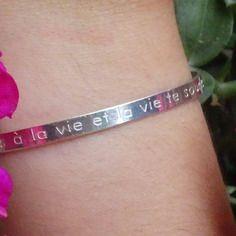 Bracelet cistus / jonc argent 925 / souris à la vie et la vie te sourira