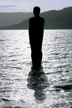 """Havmannen"" (""The Man from the Sea"") sculpture, created by Antony Gormley in Location: Mo i Rana, Nordland county, Norway Sea Sculpture, Antony Gormley, The Man, Norway, Silhouette, Album, Inspiration, Art, Biblical Inspiration"