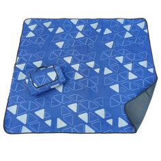 This is our Space Explorer Blue-Silver outdoor blanket. Great for protecting your car seats from the doggies or when you have to carry boxes in your car.