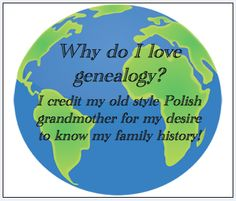 "Read more on the GenealogyBank blog: ""Why Do You Love Genealogy?"" http://blog.genealogybank.com/why-do-you-love-genealogy.html"