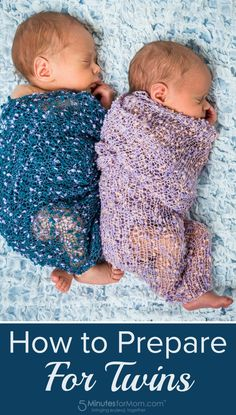 How to prepare for twins - advice from a mother who already had 3 children when she found out she was having twins.