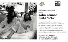 ONO Arte Contemporanea presenta John Lennon Suite 1742. Fotografie di Bruno Vagnini. I Portici Hotel Bologna. Da martedì 25 febbraio 2014.