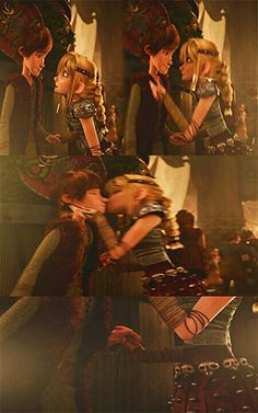 This was an adorable scene in Gift of the night fury #kiss hiccup is like #bruh
