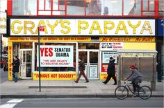 Gray's Papaya, the one-stop-shop for hot dogs and smoothies