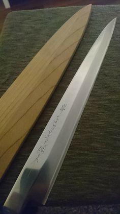 Sharpened & polished sashimi knife