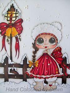 Sherri Baldy Card   ... about Ooak Handmade Sherri Baldy Christmas Card Topper - By Dawn