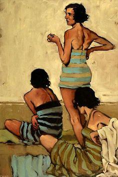 Beach Stripes, Michael Carson