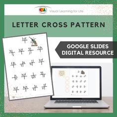 This digitally interactive resource is designed for use with Google Slides. This resource contains 50 slides in total. Answer sheets are included.The student must find all the letter cross patterns that look the same as the example at the top of the page, and drag the orange circles to mark the correct answers.