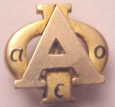 Alpha Phi Badge - 1937 - Chapter unknown. Another example of older badges with the flatter style A.